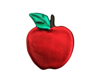 Red Delicious, Apple Pin, Apple Jewelry, Teacher Jewelry, Teacher Gifts, Fall Jewelry, Apple Magnet