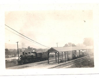 Plymouth NH train station railroad image vintage photo