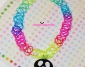 Neon Rainbow Choker Jack Skellington Necklace
