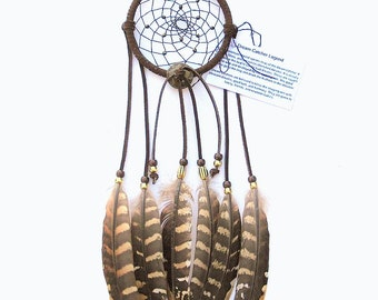 Dark Brown Dream Catcher, Reeves Pheasant Feathers