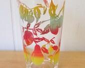 vintage fruit juice glass
