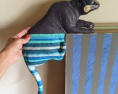 Corner Cat - orignal upcycled found object painting / wall sculpture