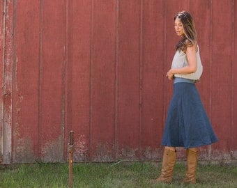 Organic Linen Essential Day Skirt
