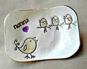 NONNA Trinket  Dish Mothers Day 3 birdies