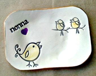 NONNA 2 birdie Trinket  Dish Mothers Day