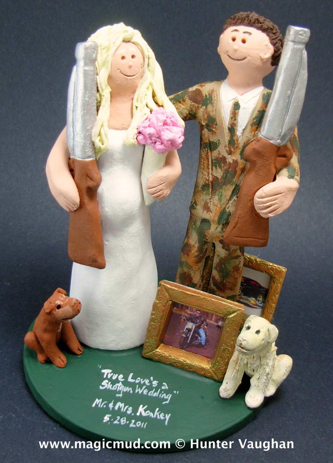 Shotgun Wedding Cake Topper Hunters Wedding Cake Topper
