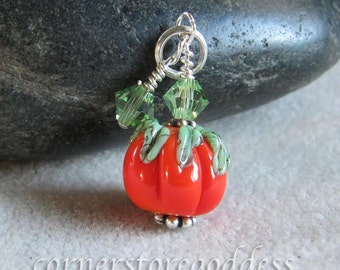 Magical Pumpkin Patch Pumpkin Charm Pendant by Cornerstoregoddess