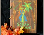 Scrap Book, Vintage 1940 Wooden Graduation Scrap Book, Christmas Gift, Gift For Her