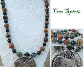 Free Spirit Handmade Bead Necklace