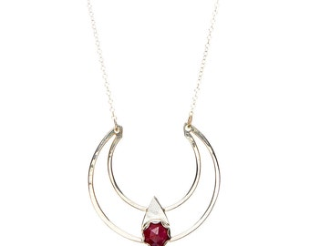Ruby Dark-side of the Moon Necklace