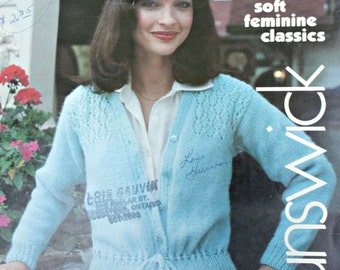 Sweater Knitting Patterns Women The eleganza collection Brunswick 783 Cardigans Mittens Scarf Vintage Paper Original NOT a PDF