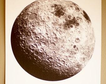 Moon Screenprint 11x14