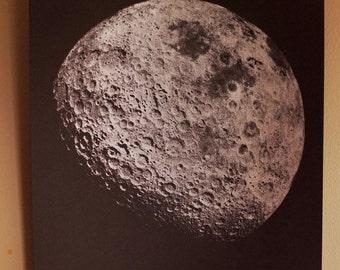 Silver Moon Screenprint 12x18