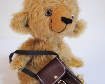 Anthony - one of kind handmade mohair artist teddy bear, 9.5 inches, by BigFeetBears