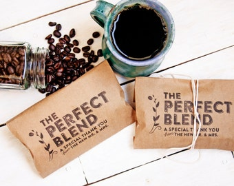 Wedding Favor Coffee Bag - The Perfect Blend - Budget Favor Bag - Coffee Favors  - 20 Bags