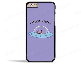 iPhone 7 Case Alien Cat Galaxy S7 Case I Believe in Myself Outer Space iPhone 6s Case Samsung Galaxy Cat Phone Case