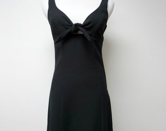 80s 90s Byer Too California black mini dress . size 3 . made in USA
