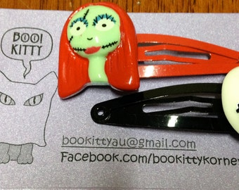 Nightmare Before Christmas - Jack and Sally Hair Clips Set of 2