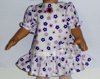 LilSassy Color Me Lavendar Long  Waist Dress And Matching Headband With Bow  For  10 Inch Tonner Patsy By TnTCreations