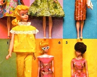 "Advance 2896 Group D ORIGINAL ""Around The Clock Wardrobe"" BARBIE PATTERN  ©1962"
