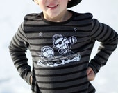 8-10yr Kids Zombie Pirates Top Long sleeve striped sweater by love Rocky