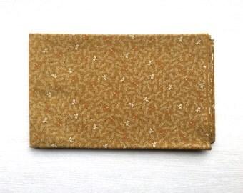 Japanese Fabric - Dragonflies in Dark  Mustard Yellow -  1 Yard 100% Cotton  110 x 100 cm - Dragonfly Fabric  (F165-P17)
