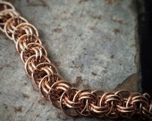 Bronze Chainmaille Bracelet - Viper Basket Weave - Ready to Ship - 10% loaned through Kiva.org