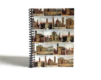 Florence Diary Travel Journal Blank Notebook Sketchbook, Writing, A6, Draft, Spiral Bound, Cute Notebook, Back to School, Gifts Under 15