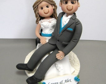 DEPOSIT for a Wheelchair Bride Custom made Polymer Clay Wedding Cake Topper