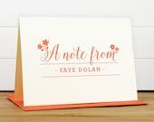 Personalized Stationery Set / Personalized Stationary Set - DELIGHT Custom Personalized Note Card Set - Feminine Flower Bridesmaid