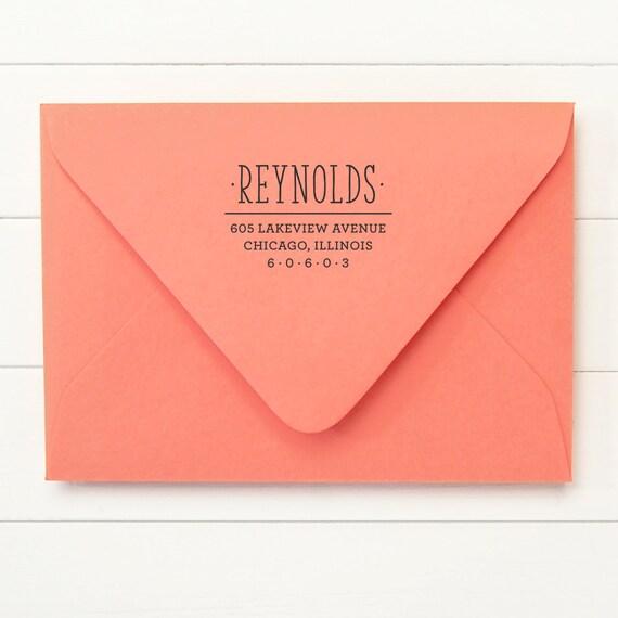 Return Address Stamp / Stamp Address / Self Inking Return Address Stamp - ZEST DESIGN - Housewarming Newlywed Gift