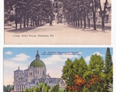 2 Vintage Postcards of Milwaukee Wisconsin
