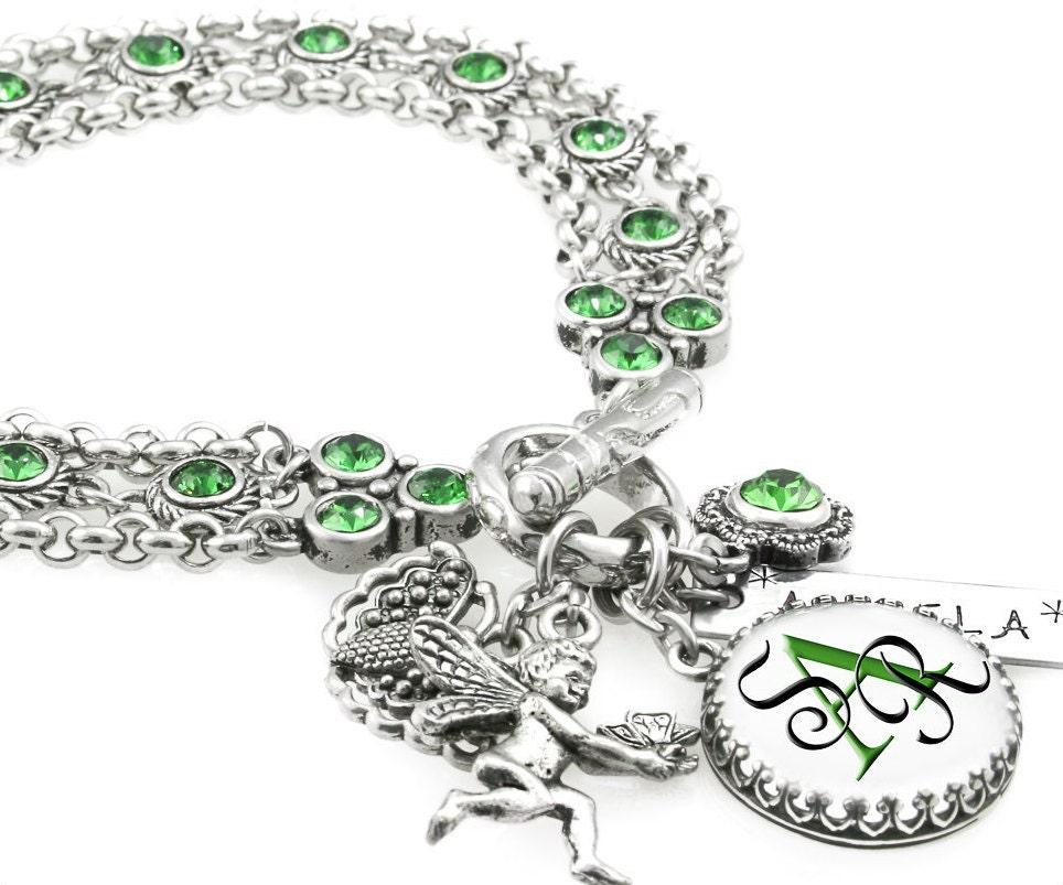personalized bridesmaid bracelet bridesmaids birthstone