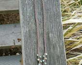 CUSTOM ORDER - Handknotted Adjustable Brown Micro Macrame Hemp Bracelet with African Turquoise/Pyrite Pendant and African Turquoise Beads