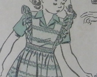 1940's Advance Pattern 3151 for  Child's Pinafore and Blouse, Size 2