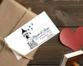 0312 JLMould Once Upon a Time Rapunzel Tower Fairytale Fairy Wedding Tale Return Address Custom Personalized Rubber Stamp Flynn Rider
