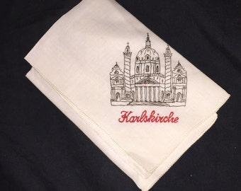 Vintage Karlskirche Handkerchief