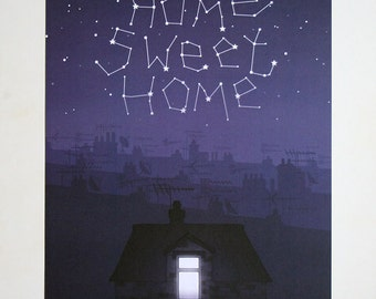Home Sweet Home - A4 Digital Print - Illustration - Housewarming Gift