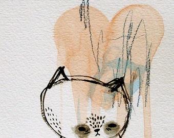 cat art- cat love
