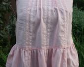 Small pink cotton spaghetti strap shirt India lace XS extra small