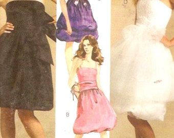 Bridesmaid Grad Dress Party New Years evening wear Evening Elegance Sewing Pattern McCalls 5270 14 to 20 UNCUT