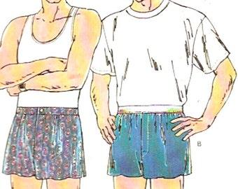 Mens boxer shorts Kwik Sew 2022 sewing pattern multi size Sz Sm to XL Underwear Dad husband gifts Father Men UNCUT