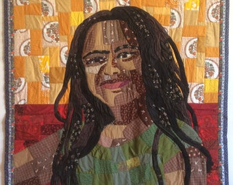 Commission a portrait quilt by Amy Cools