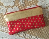 Golden Little Sweetheart - Zipper Pouch