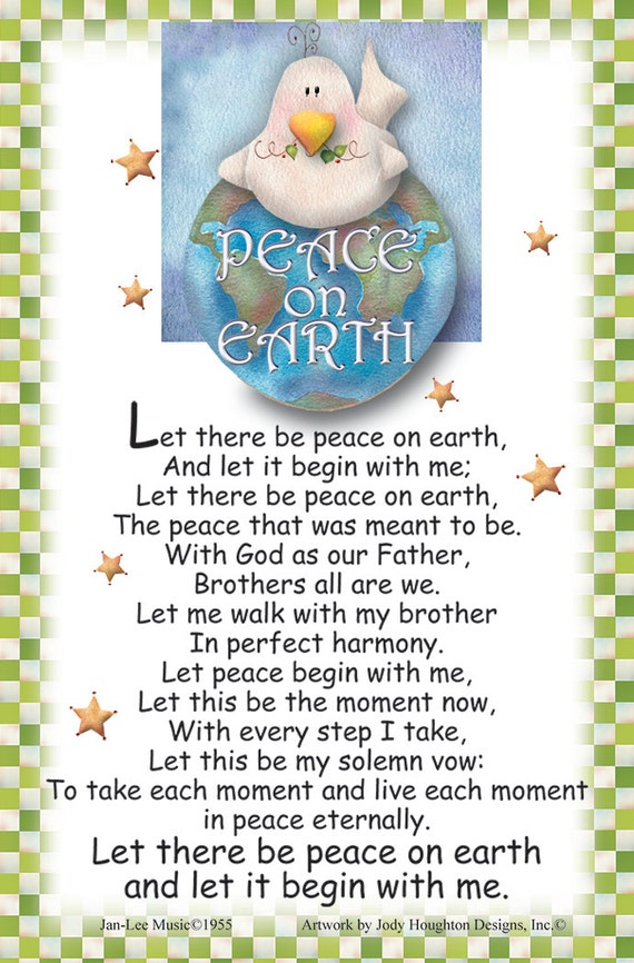 Let There Be Peace On Earth Hymn Magnet Let ther...