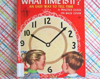 SALE Vintage Childrens Book -  What Time is It? A Romper Room Book by Wonder Books