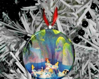 "Peter Pan Mermaid lagoon Image Christmas Tree 2.25"" Ornament"