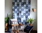 Denim Quilt, Jean Quilt, Circles Quilt, Denim Wall Hanging, Boho Tapestry, Boho Tapestries, Bohemian Home Decor, Denim Throw, Norwegian Wood