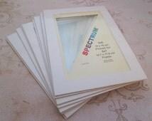Picture Frame Mat, Photo Mat 5x7, photo matte, bevel cut mat, 4x6 photo mat, 5 x7 frame mat, white photo mat, picture mat