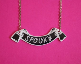 Spooky Banner Necklace